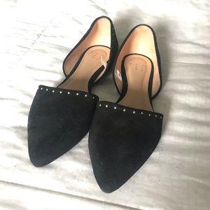 Black Studded Flats